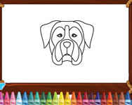 Doggy face coloring game